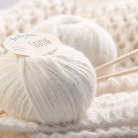 Grosse laine naturelle à tricoter