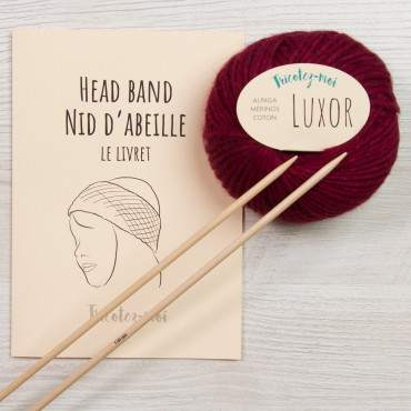 Head band nid d'abeille