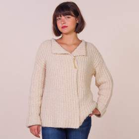 Veste à tricoter en alpaga