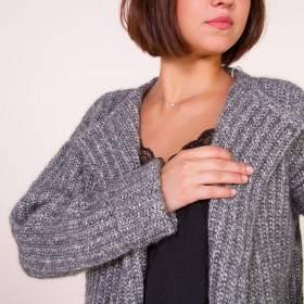 Veste en kit tricot