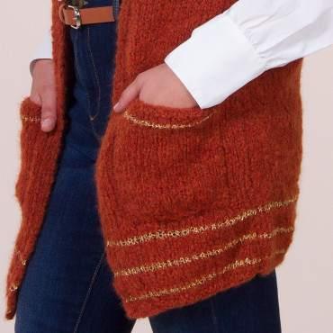 Gilet en kit à tricoter en alpaga