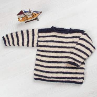 Kit bébé : un pull en laine 100% naturelle