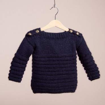 Kit tricot bébé : un pull chaud facile à tricoter pour les débutants