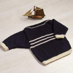 Kit tricot bébé : un pull tout en mérinos ultra doux