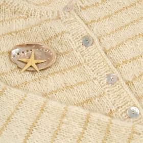 Cardigan esprit marine en mohair naturel à tricoter soi-même