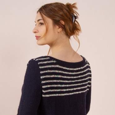 Un pull marin à tricoter en pure laine mérinos DIY