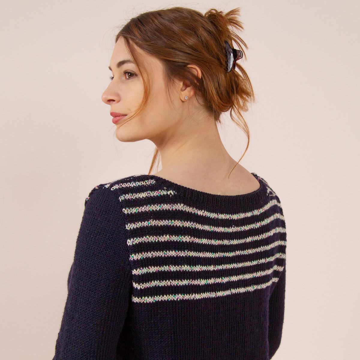 015d275f4c8 Pull à tricoter en mérinos