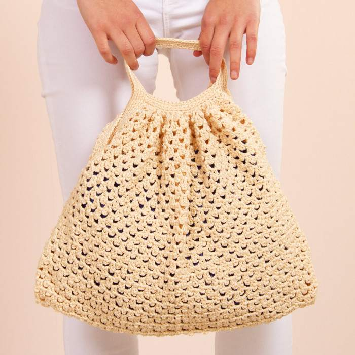 Sac en kit crochet facile à réaliser.
