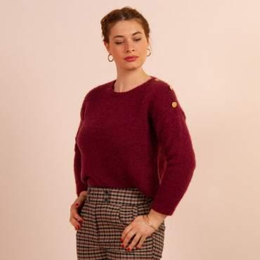 Pull mohair en kit à tricoter