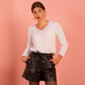 Pull mohair en kit tricot