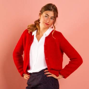 Cardigan à tricoter
