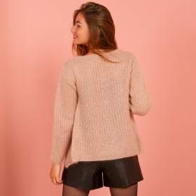 Gilet mohair à tricoter