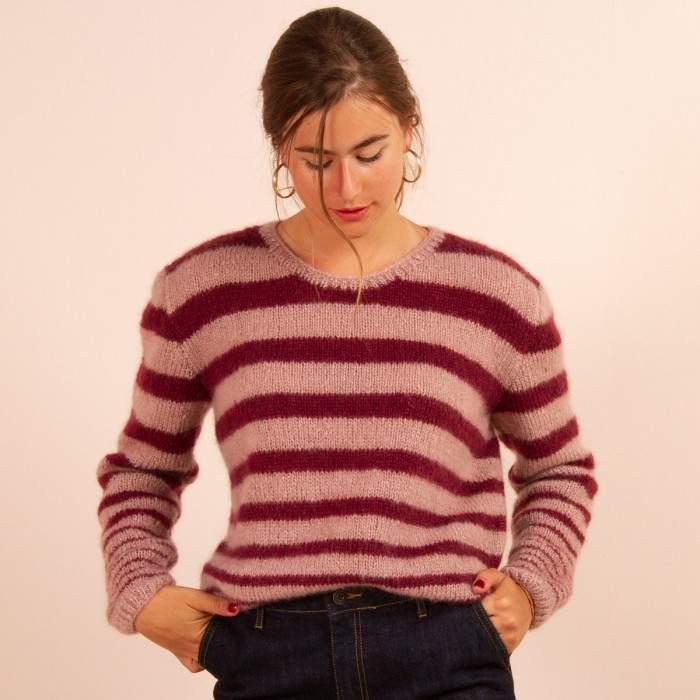 Pull femme en kit tricot
