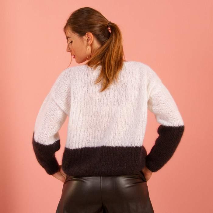 Pull mohair à tricoter