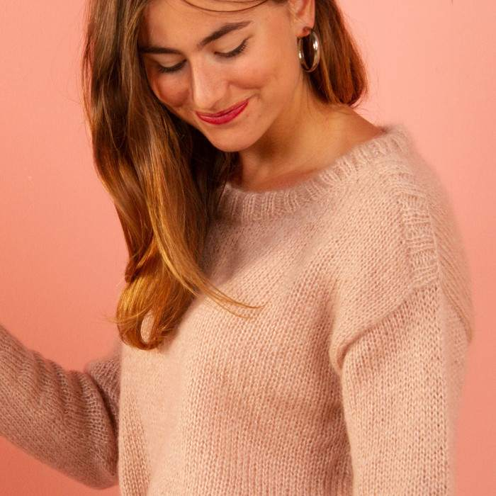 Pull large à tricoter en mohair