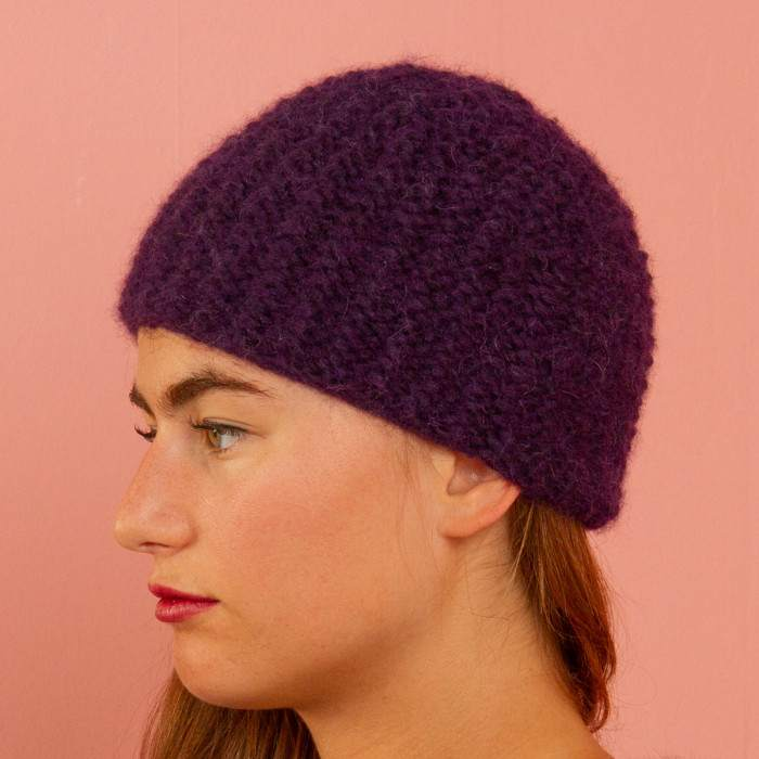 Bonnet en alpaga à tricoter