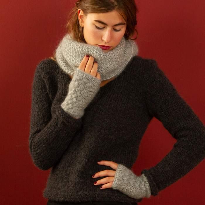 mitaines en kit à tricoter