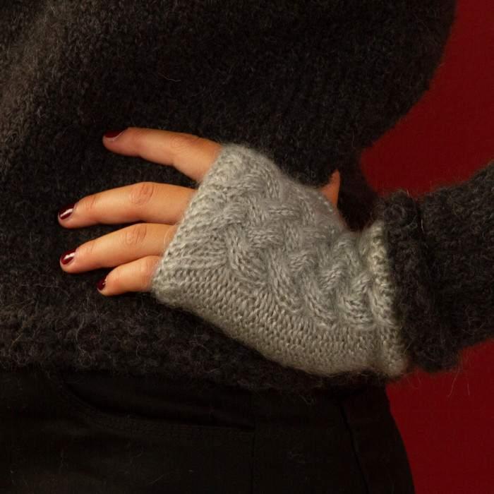 Mitaines en mohair en kit tricot