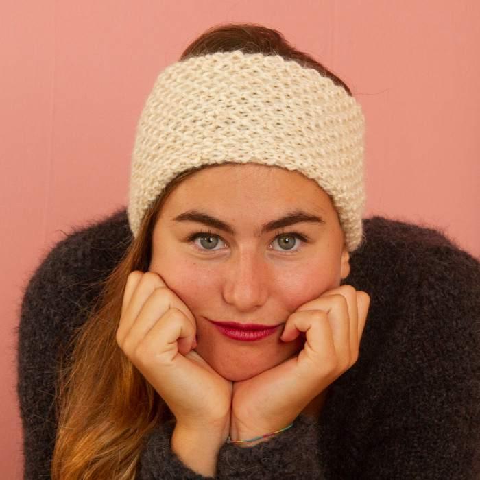 Headband en alpaga à tricoter