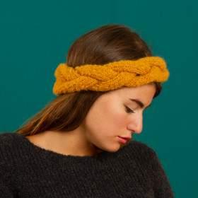 head band à tricoter