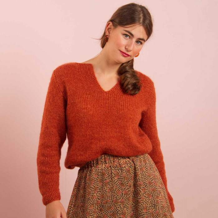 Kit tricot pull mohair