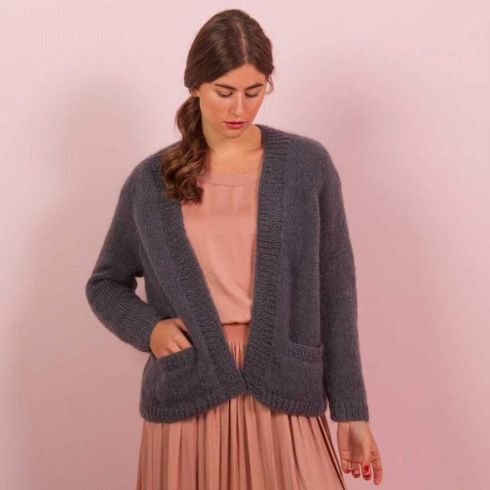 Gilet femme kit tricot