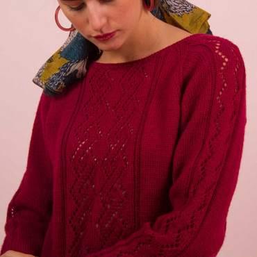 Pull ajouré à tricoter