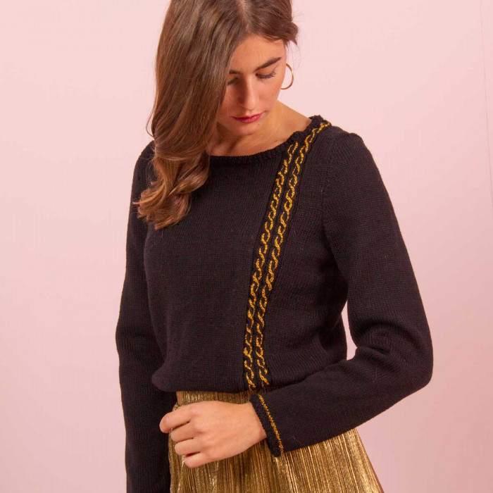 Pull femme à tricoter