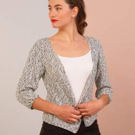Gilet femme en kit tricot