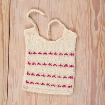 Bavoir en kit à tricoter
