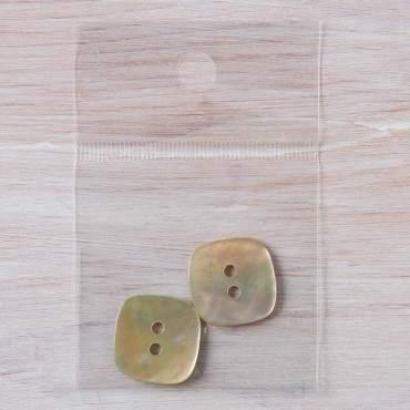 boutons nacre carrés