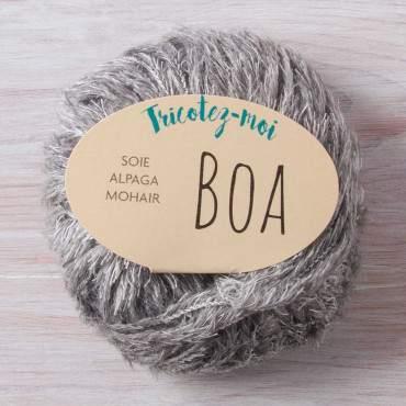 Fil a tricoter à effet fourrure 100% naturel