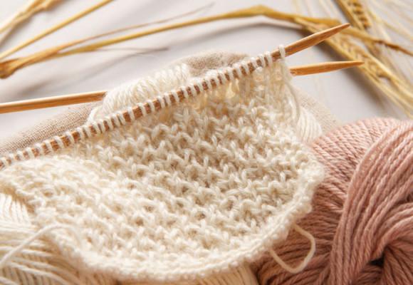 Point de tricot alvéolé